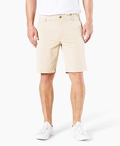 Dockers Men's Smart 360 Flex Straight Fit Short, Sahara Khaki, 32W ()