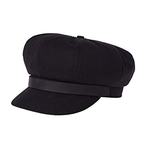 Brixton Women's Montreal Newsboy Hat, Black, Medium
