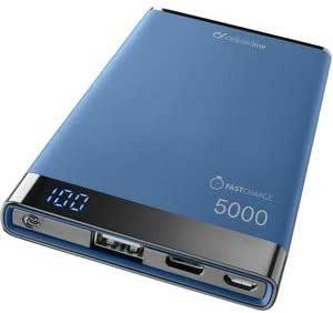 Cellularline FreePower Manta S 5000 batería Externa Azul Polímero de Litio 5000 mAh: Amazon.es: Electrónica