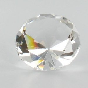 Clear Crystal Glass Diamond Shaped Paperweight (Diamond Shaped Paperweight)