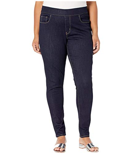 Levi's Women's Perfectly Slimming Plus-Size Pull-On Skinny Jeans, Rinsed Indigo, 38(US 18)