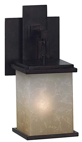 (Kenroy Home 3372 Plateau 1-Light Sconce, Oil Rubbed)