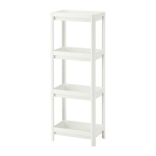Beech Bookcase - Ikea Shelf unit, white