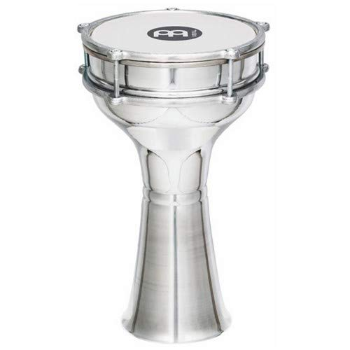 "Meinl Darbuka with Plain Aluminum Shell - MADE IN TURKEY - 5 1/3"" Tunable Synthetic Head, 2-YEAR WARRANTY (HE-100)"