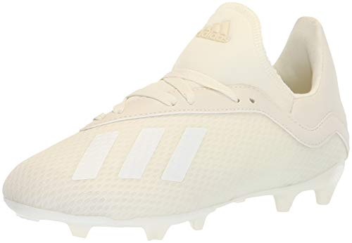 adidas Unisex X 18.3 Firm Ground Soccer Shoe, White, 3 M US Little - Adidas Backpack Soccer