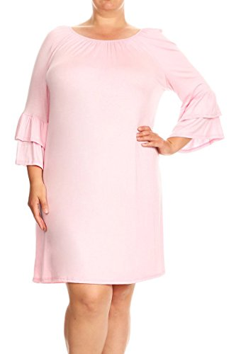 Buy bell bottom sleeve dress - 5