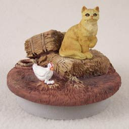 Conversation Concepts Miniature Shorthaired Red Tabby Cat Candle Topper Tiny One ''A Day on the Farm'' (Set of 6)