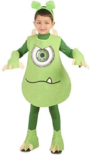 Boys Green One Eyed Monster Alien Halloween Fancy Dress Costume Outfit 5-12yrs (7-9 Years) -
