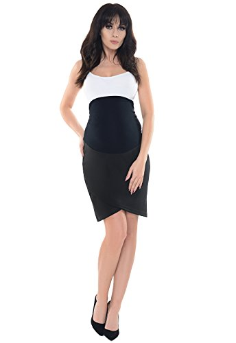 Purpless Maternity Falda Formal del Tulipán del Embarazo 1512 Black