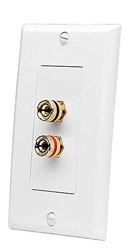 OSD WP2 Banana Binding Post Gold Plated Terminal Decora Style for 1-Speaker (White) Decora Wall Mount Plate