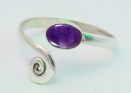 Blue Amethyst Stone Toe ring 925 Solid Sterling Silver Girl Women Body Jewellery Adjustable Toe Ring