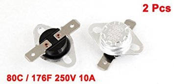 2 Piece Uxcell Temperature Switch Thermostat Uxcell UXCE9 a13072300ux1008