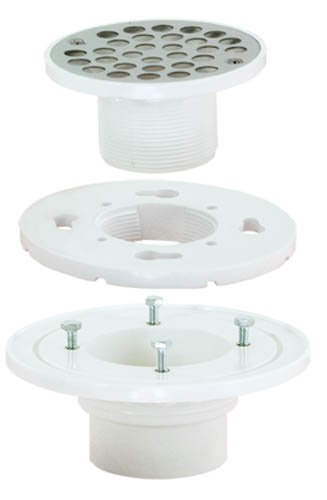 lacement Low-Profile Floor and Bathroom Shower Drain, 4-Inch Strainer with Stainless Steel Screws ()