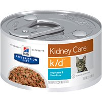 Hill's Prescription Diet k/d Feline Renal Health Vegetable & Tuna Stew Canned Cat Food 24/2.9 by Science Diet