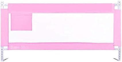 ベッドガードレール|ベビーベッド少年ベッド|金属フレームとファブリックカバー|倒し|すべてのマットレスに適用|滑り止め|3つのサイズ150〜220センチメートル(色:ブルー、サイズ:150センチメートル) (Color : Pink, Size : 150cm)