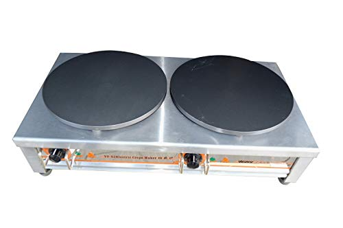 Intbuying Kitchen Electric Crepe Machine Griddle Commercial Electric Plate Crepe Machine Snack Machine Hot Plate (Double plates)#134119 by INTBUYING (Image #3)