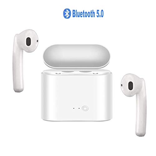 Wireless Earbuds Bluetooth Headphones Stereo Sound V5.0 Wireless Headphones with Charging Case