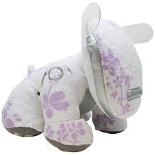 Hasbro i-Dog Snuggly Speaker - White w/ Purple Flowers