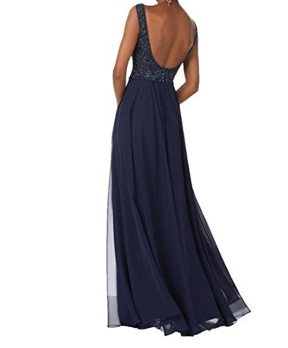 Charmant Dunkel Pailletten Promkleider Ausschnitt Lang Festlichkleider Navy Abendkleider Partykleider Blau V Damen Elegant vnEvHwqr14