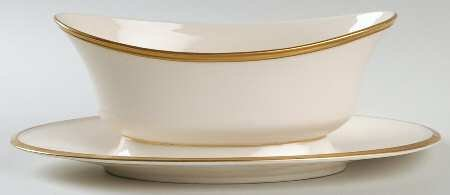 Eternal Fine Dinnerware (Lenox Eternal Gravy Boat with Attached Underplate, Fine China Dinnerware)
