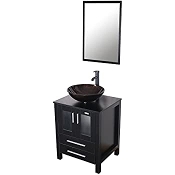 Eclife Bathroom Vanity Units 24 Wood Cabinet Modern Designed With