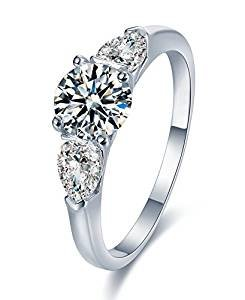 Sreema Channel Set Sterling Silver Wedding Ring With Simulated Crystals 925 Stamped N