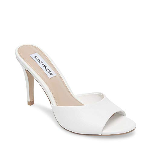 Leather Erin (Steve Madden Women's Erin Pump, White Leather, 7.5 M US)