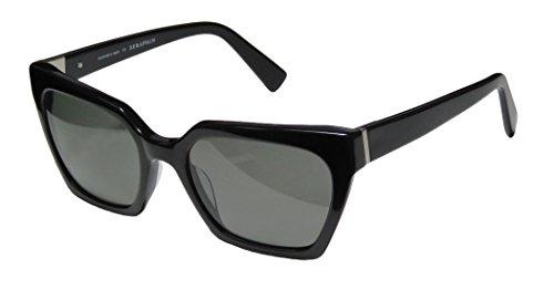 Seraphin Neoclassic Polarized Sandra Sunglasses Black Frame Grey - Sunglasses Seraph