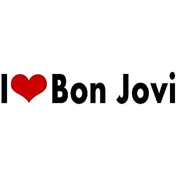 I love bon jovi stickers rock band tour concert album decal vinyl bumper car jon