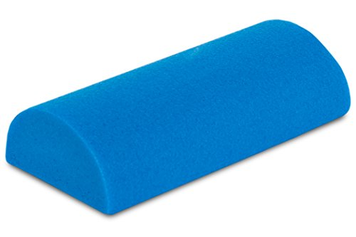 "ProsourceFit Flex Foam Half-Round Rollers 12"" for Muscle Massage, Physical Therapy, Core & Balance Exercises Stabilization, Pilates, Blue ()"
