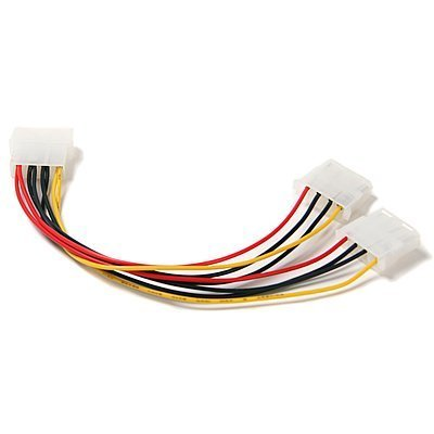 Computer Molex 4 Pin Power Supply Y Splitter Cable