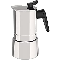 'Pedrini 02CF038: 6 Cups Espresso Coffee Pot, Steel