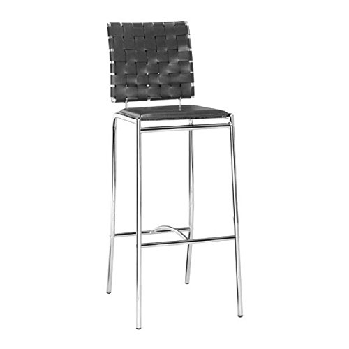 ZUO-Furnitures Kitchen Barstools, Black Criss Cross Counter Modern Barstools Chair, Set Of (Criss Cross Counter Chair)