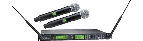Shure UR24D/SM58 Dual Handheld Wireless System, (Ur4d Dual Channel Receiver)