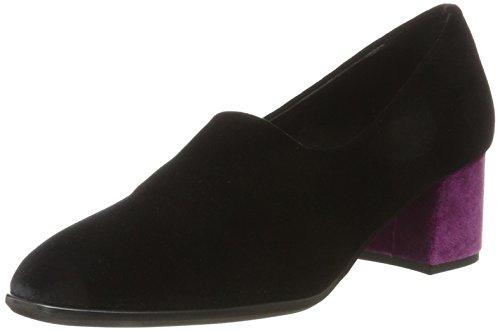 e Nr 01vl Con F900 Negro Velvet Tacón Mujer Cerrada De Rapisardi fuxia Zapatos black Punta f Para ZnZHBArq
