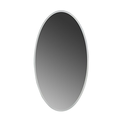 MAYKKE Madison 24'' W x 36'' H Oval LED Mirror, Wall Mounted Lighted Bathroom Vanity Mirror, Frameless Mirror, Horizontal or Vertical Mirror with LED Lighting Border UL Certified, LMA1032401 by Maykke (Image #1)