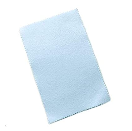 Gold for Silver Brass and Copper Jewelry Bulk Pack Sunshine Blue Soft Cloths 5 Pack - Blue