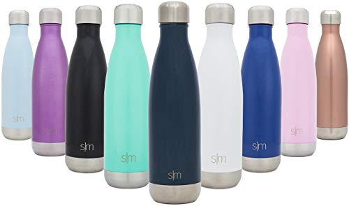 Simple Modern 25 oz Wave Water Bottle - Stainless Steel Hydro Swell Flask - Wide Mouth Double Wall Vacuum Insulated Metal Reusable Navy Small Kids Coffee Leakproof Thermos - Deep Ocean
