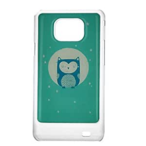 LCJ Circle Blue Owl Pattern Protective Hard Back Case Cover for Samsung Galaxy S2 I9100