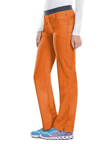 (Cherokee Infinity 1124A Low Rise Slim Pull-on Pant Orangeade M)