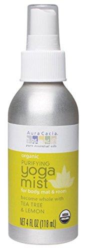 Aura Aromatherapy Purify Cacia (Aura Cacia Organic Body, Mat and Room Yoga Mist, Purifying Tea Tree and Lemon, 4 Fluid Ounce)