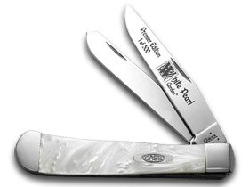 Pearl Trapper Knife - CASE XX White Pearl Genuine Corelon 1/500 Trapper Pocket Knife Knives