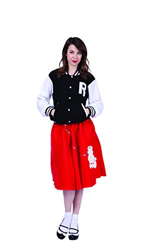 RG Costumes Women's Letterman Jacket, Red, Small ()