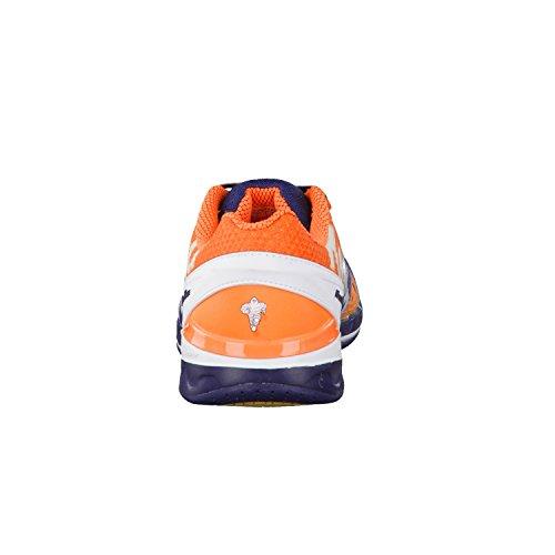 KempaAttack One - Zapatillas de Balonmano mujer Azul Marino/Naranja Pálido/Blanco