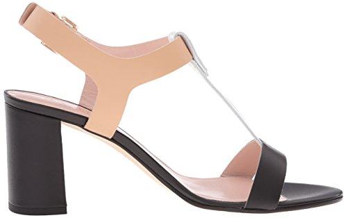 Kate Spade Women's Addie Heeled Sandal Black/White/Natural Vachetta uWrFRpn