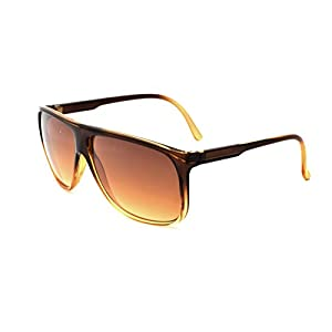 Zoo York Men's Rectangle Sunglasses, Brown and Tan Frame with Brown Temple, APG Brown Lens, 61mm