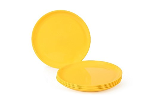 Joy Home Microwave Safe Full Plate 6 Pcs Round Yellow