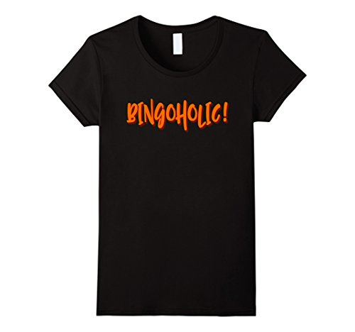 Bingo Halloween Costume (Womens Bingo Halloween Costume Bingoholic T-Shirt Medium Black)