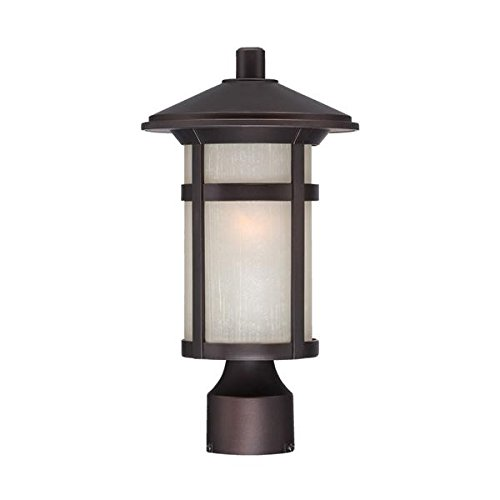 Acclaim 39107ABZ Phoenix Collection 1-Light Outdoor Light Fixture Post Lantern, Architectural Bronze by Acclaim