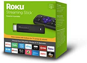 Roku Streaming Stick   Portable, Power-PackedStreaming Devicewith Voice Remote with Buttons for TV Power and Volume